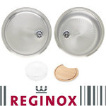 View Item Reginox Round bowl Set 1.0 Bowl Polished Stainless Steel Kitchen Sink RL216S